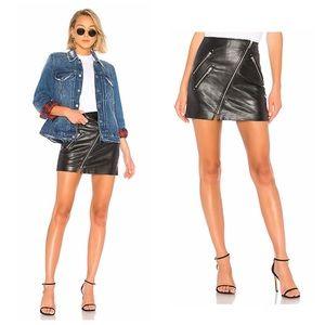 🆕Blank NYC Black Faux Leather Zipper Mini Skirt